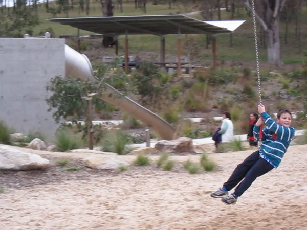 Declan on Flying fox