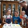 Cousins' birthday party: Mason, Lila, Gabe and Malcolm.