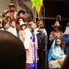 Lila's school Christmas play, 2016, age 10, grade 5.