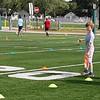 Mason playing flag football, 2016. Age 7.