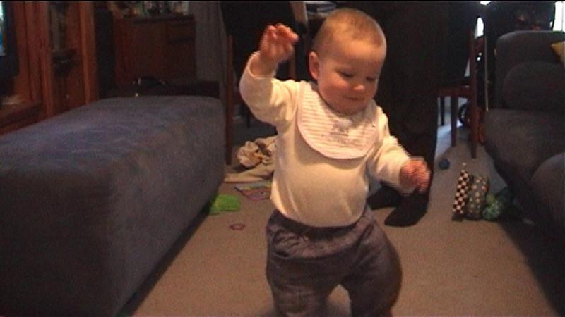 Declan's first steps.