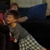 Mason keeps falling down. Working on his slapstick routine?