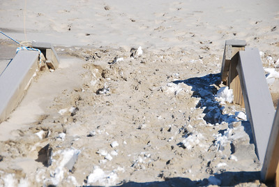 Somewhere, way under the sand, are the steps to Nauset beach.