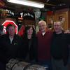 George, Katy, Hank, and Ed in Doug and Gerri's garage.