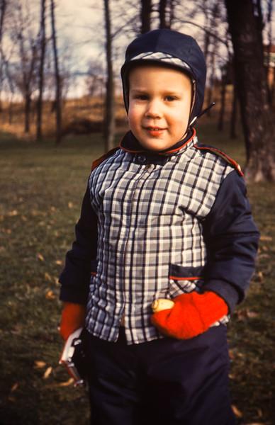 I evidently had plenty of sharp outerwear.
