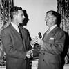 1950, Philadelphia. Receiving the gavel of office, president of the Philadelphia Coal Club.