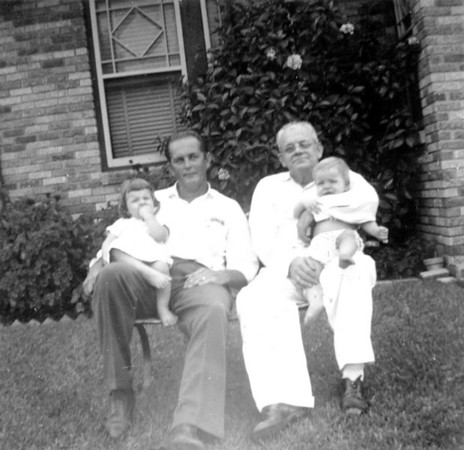June 21, 1953 From left to right: Jan, Walter Alfred (Rip), Walter Arthur and Jimmy Smock 1102 Omar Ave. Houston, Texas