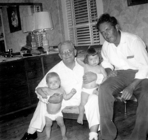 June 21, 1953 From left to right: Jimmy, Walter Arthur, Jan and Walter Alfred (Rip)Smock 1102 Omar Ave. Houston, Texas