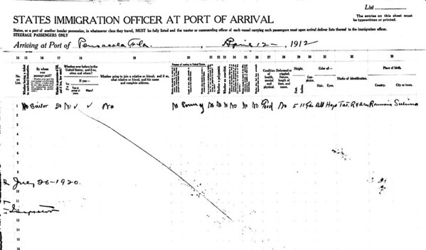 George Jacob Naturalization - Ship Manifest (2)