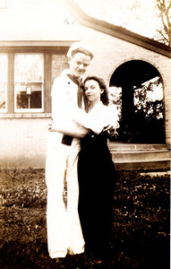 George David Marshall and Bertha Ann Marshall Burgin. Photo taken in Kentucky during World War II