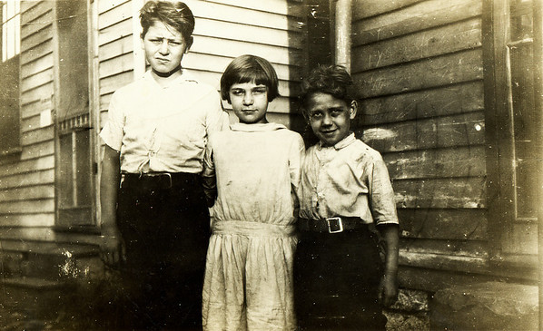 Elmer, Clara and Gilbert Burgin