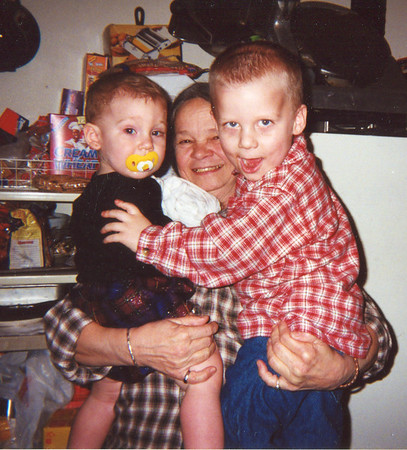 Cherry with Marcie and EJ Christmas 2000 1446 14th Street Hempstead, Texas