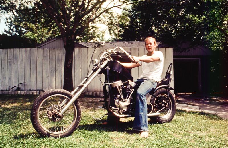 Joe on motorcycle Early 1970's