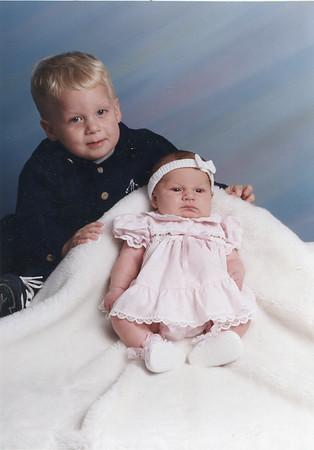 Erik - 22 months Marcie Lynn - 1 month 1999