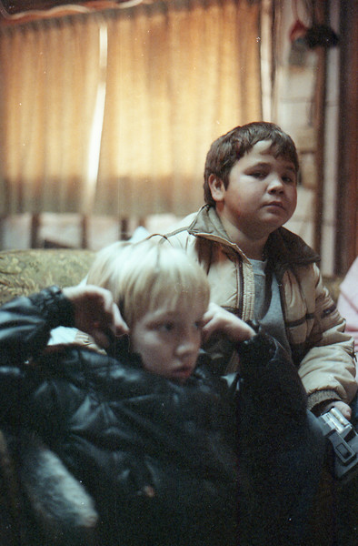 Joe's House Leander, Texas December 1989 Charlie and Jacob