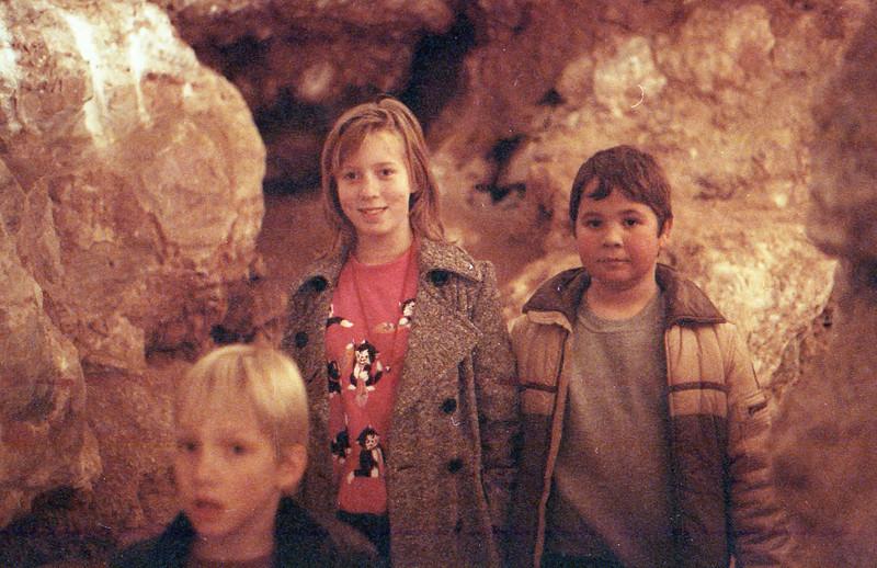 Natural Bridge Cavern San Antonio, Texas December 1989 Charlie, Jessica, Jacob