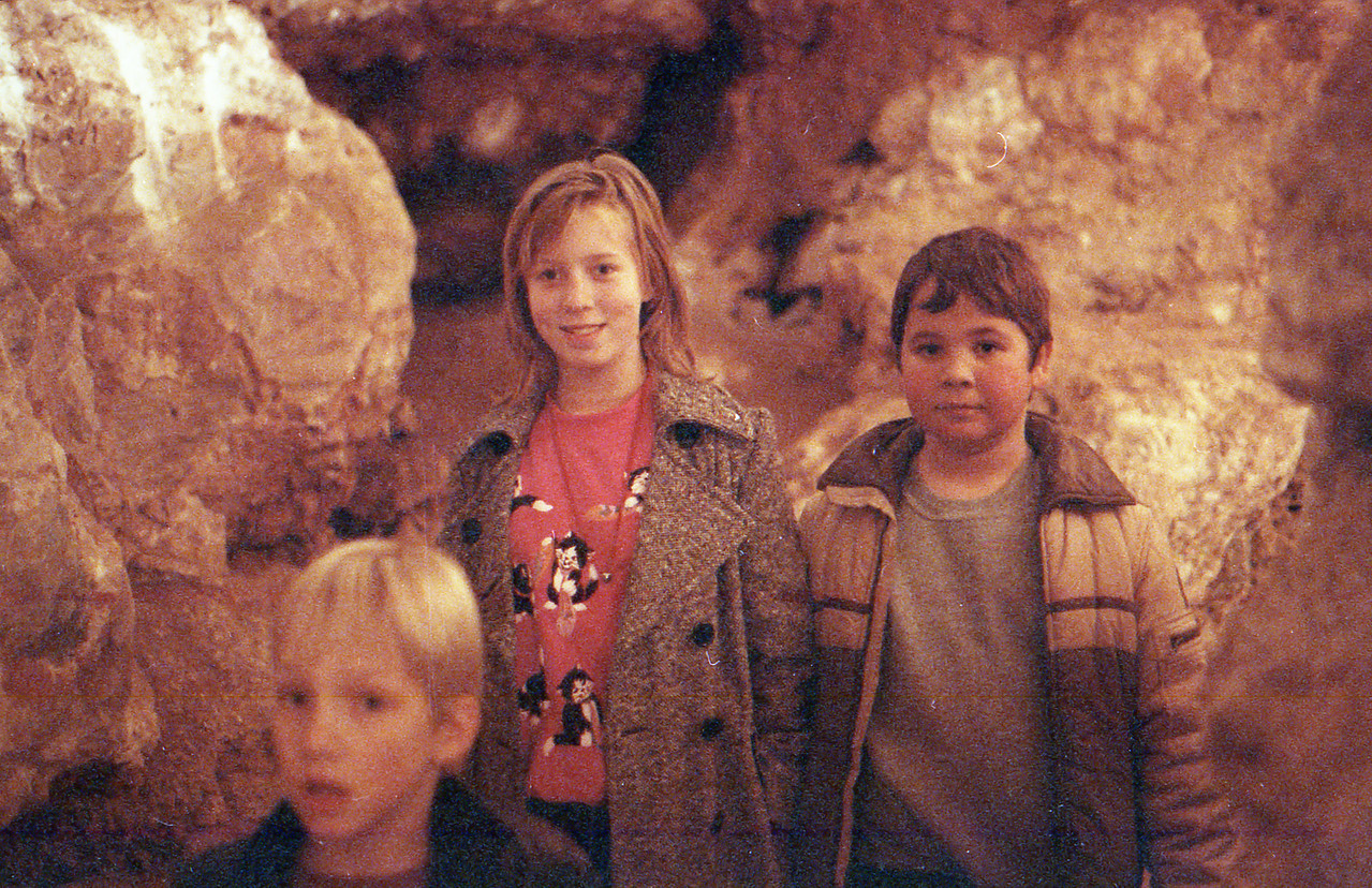 Natural Bridge Cavern San Antonio, Texas December 1989 Charlie, Jessica, Jacob