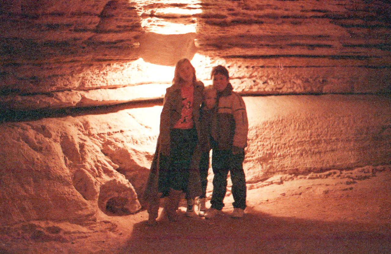 Natural Bridge Cavern San Antonio, Texas December 1989 Jessica and Jacob