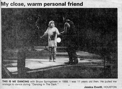 1988 Jessica dancing with Bruce Springsteen
