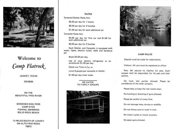 1970's Camp Flatrock Brochure