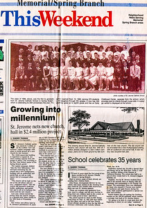 St; Jerome Church newspaper article