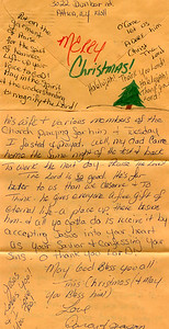Darcy and Jason Christmas letter