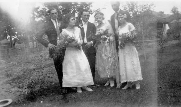 Adam Edward and Fellie Kronenberger Polka on their wedding day. Sophie Polka on the left
