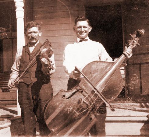 Albert Polka and son Adam at the farm Marlin, Texas  Circa 1919