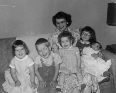 Maria Smock with Pat, Jim, Jeanne, Jan, Joe 1956