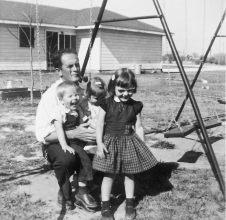 Rip Smock with Jim, Pat, Jan Jan 1956