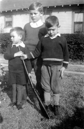 "Left to right; James V Polka, Walter ""Sonny"" Smock, Adam Edward Polka, Jr Circa 1932"