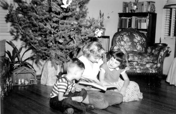 Jerry, Marilyn Eure, Sharon Christmas 1953