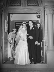 Maria Jacob and Walter 'Rip' Smock Wedding September 9, 1950  St. Joseph Catholic Church Houston, Texas
