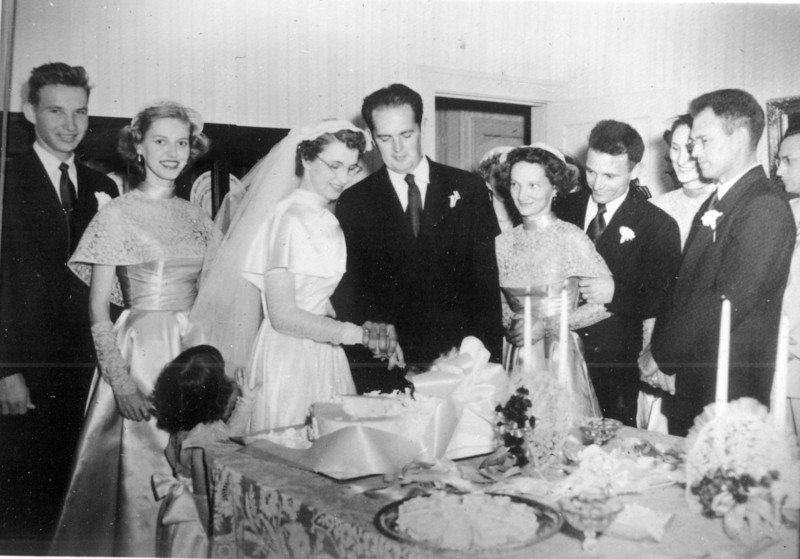 Maria Jacob and Walter A. 'Rip' Smock wedding<br /> September 9, 1950