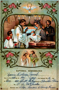 Maria Dolores Jacob baptismal certificate