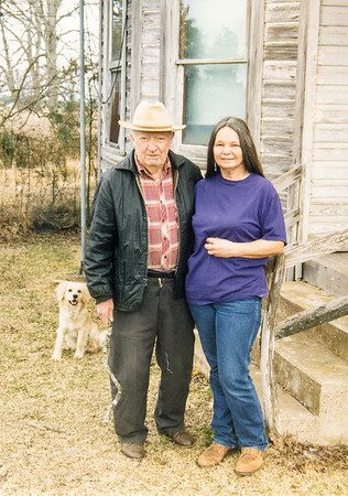 Adam Wojcik and Cherry At the old Polka homestead New Waverly, Texas February 1996