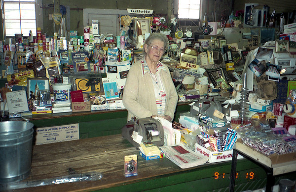 Cecilia Krystyniak Buckner Buckner General Merchandise store. New Waverly, Texas January 19, 1991