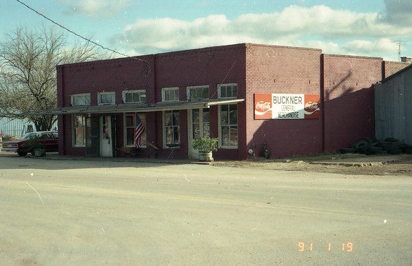 Buckner General Merchandise store. New Waverly, Texas January 19, 1991