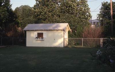 The garden shed at the Wichita house.