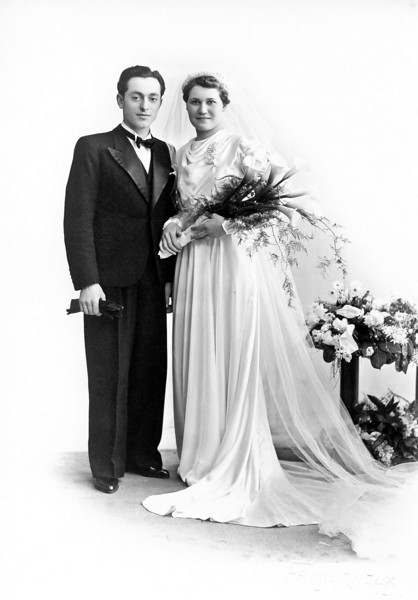 19 mars 1938, mariage de mes parents Francis Richard et Germaine André à Sanvignes les Mines.