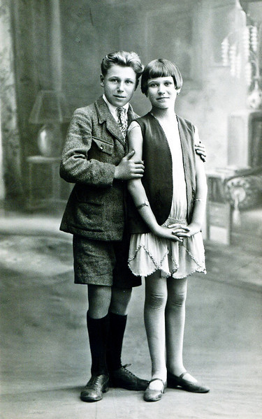 Ma mère avec son frère Maurice