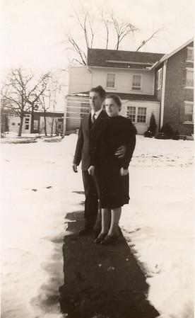 Earl and Lydia as newlyweds - January, 1940