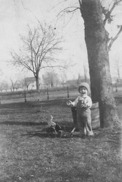 Our Grandpa Hunsberger, Earl Hunsberger Jr., at age 18 months? (circa Mar.1921)
