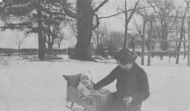 Our Grandpa Hunsberger, Earl Hunsberger Jr., at age 6 months with his mom, Estella (circa Mar.1920)