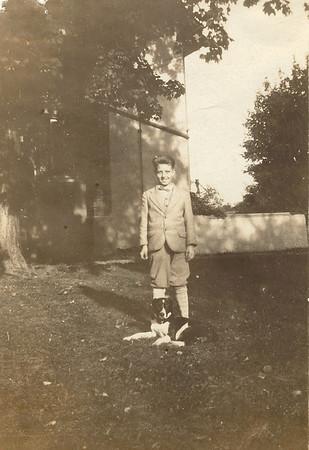 Our Grandpa Hunsberger, Earl Hunsberger Jr., around age 11? (circa 1930) - Sepia version