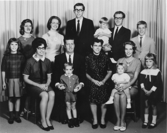 Earl & Ruth Hunsberger Family, along with grandchildren (circa 1969)