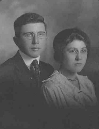 "Alice Marie Hershberger with her twin brother Alfred (Alice is our grandma Ruth Yoder Hunsberger's mother) .  Alice was born July 30 1900 in Lorain, OH. Married Sept. 20 1921 in Johnstown, PA to Oscar Yoder. Died Oct. 16, 1950 in Johnstown, Cambria, PA at age 50. Alice and Oscar Yoder had three daughters: Fern, Ruth (our grandma) and Loretta A. (""Toppy"")."