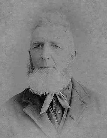 Francis Cessna Morgart, our grandma Ruth Yoder Hunsberger's Mother's Mother's Father. (Alice Marie Hershberger Yoder's grandpa)  Francis was born on Aug. 1 1829 in Rainsburg, Colerain Twp., Bedford, PA. Married: Margaret Ann BOOR on Nov. 29 1855 in Cumberland, Allegany, Maryland. Died: Nov. 8 1902, Burn's Mill, Near Schellsburg, Bedford, PA at age 73. (Francis and his wife Margaret had 13 children: Henry F, Martha Elizabeth, William Herbert, Ida Jane, Ella F., Hulda Marie, Anna E., Samuel Boor, George Washington, James Lewis, Emma Catharine, Clark Tobias, & Robert Glenn).