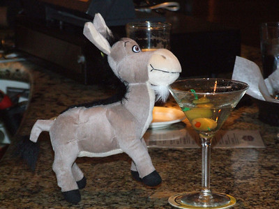 And she ran into Donkey again, and bought him a drink.  She is SUCH a flirt.