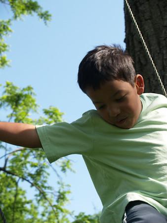 Christian on swing